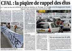 Article du Progres du 6 Aout 2008
